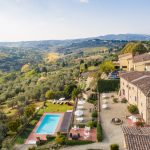 aerial view of Relais Villa Olmo charming hotel Tuscany
