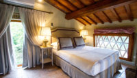 Elegant bedroom deluxe villa with pool Tuscany