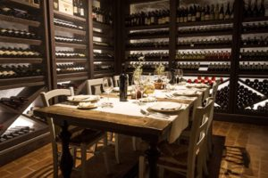 The cellar and Diadema wines Relais Villa Olmo relais winery Chianti