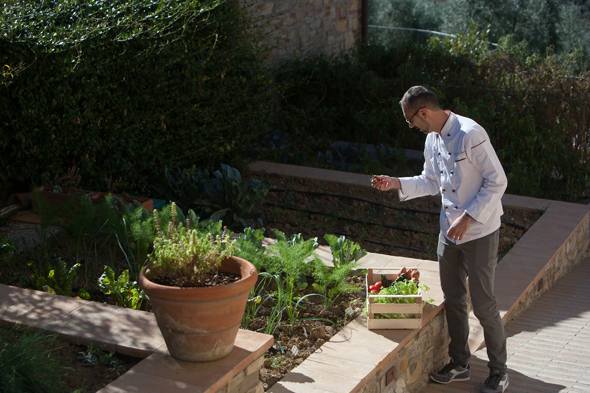 kitchen's garden of our food resort with pool florence