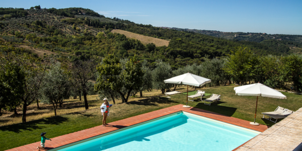 relaxing in our food resort with pool near Florence